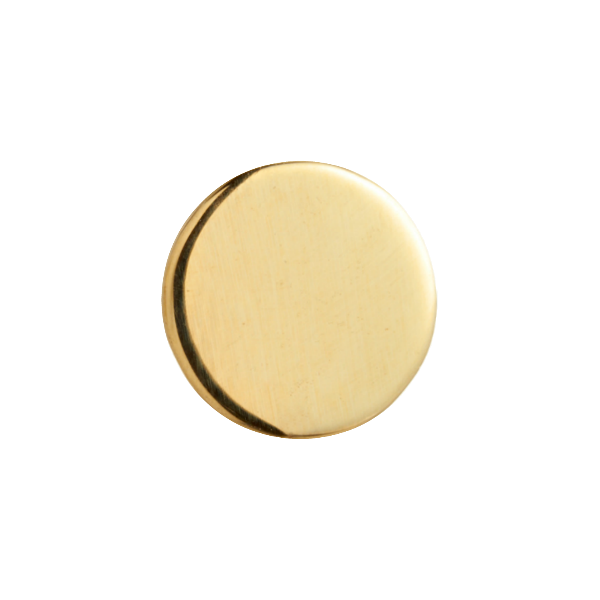 yellow gold disk end