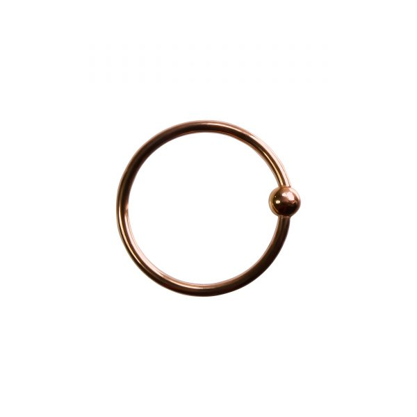 Rose Gold Fixed Bead Seam Ring