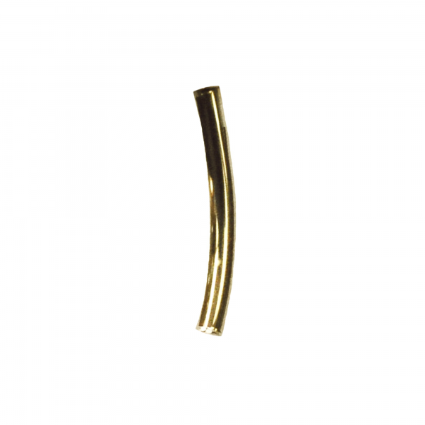 Yellow Gold Curved Barbell Shaft